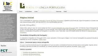 "Sprache: ""Portal da Língua Portuguesa"