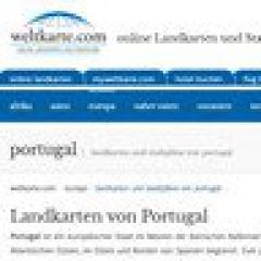 Landkarten und Stadtpläne in Portugal